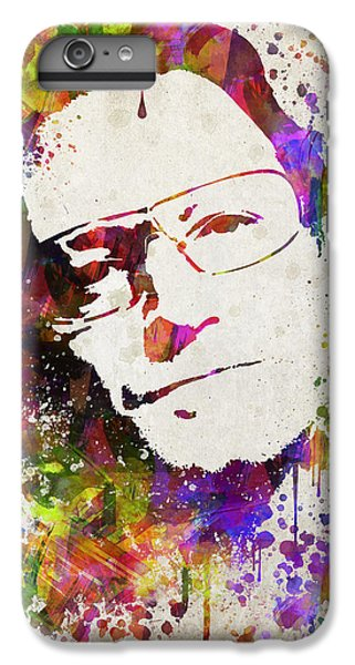 U2 iPhone 6 Plus Case - Bono In Color by Aged Pixel
