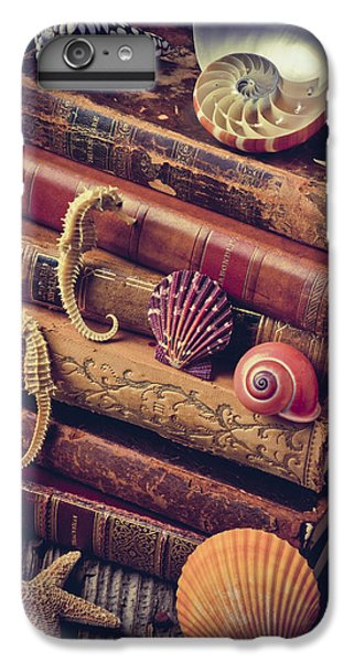Books And Sea Shells IPhone 6 Plus Case by Garry Gay
