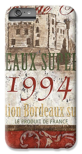 Wine iPhone 6 Plus Case - Bordeaux Blanc Label 2 by Debbie DeWitt