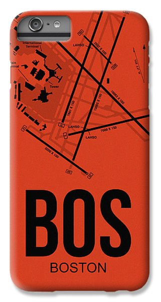 Airplane iPhone 6 Plus Case - Boston Airport Poster 2 by Naxart Studio