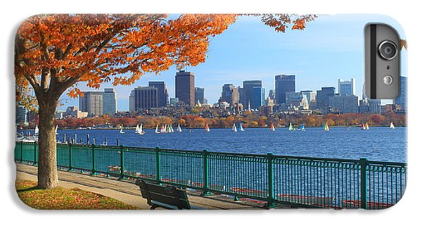 Skylines iPhone 6 Plus Case - Boston Charles River In Autumn by John Burk