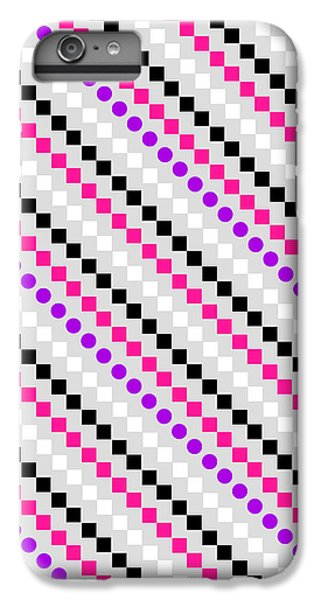 Boxed Stripe IPhone 6 Plus Case by Louisa Hereford
