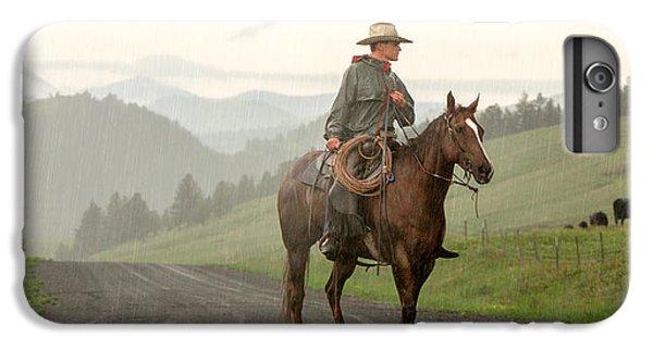 Rural Scenes iPhone 6 Plus Case - Braving The Rain by Todd Klassy