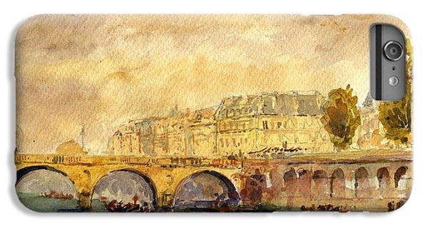 Bridge Over The Seine Paris. IPhone 6 Plus Case by Juan  Bosco