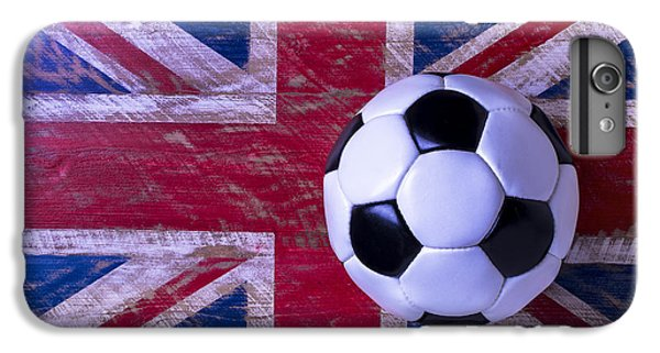 British Flag And Soccer Ball IPhone 6 Plus Case by Garry Gay