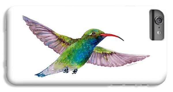 Broad Billed Hummingbird IPhone 6 Plus Case by Amy Kirkpatrick