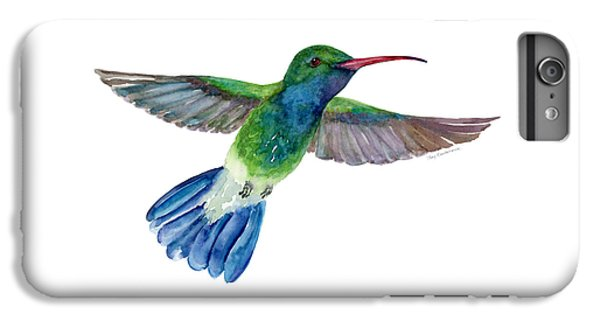 Broadbilled Fan Tail Hummingbird IPhone 6 Plus Case by Amy Kirkpatrick