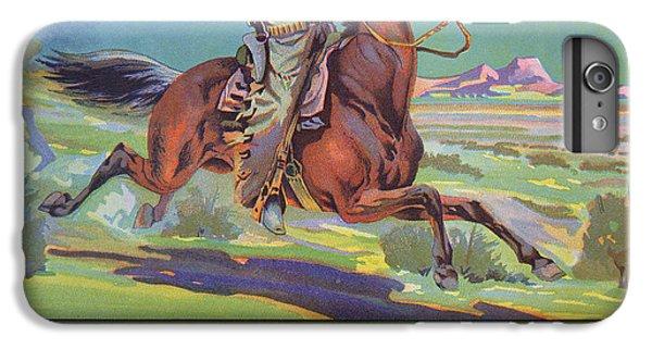 Horse iPhone 6 Plus Case - Bronco Oranges by American School
