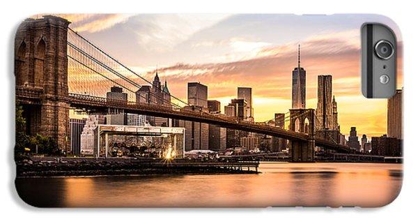 Brooklyn Bridge iPhone 6 Plus Case - Brooklyn Bridge At Sunset  by Mihai Andritoiu