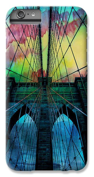 Blue iPhone 6 Plus Case - Psychedelic Skies by Az Jackson