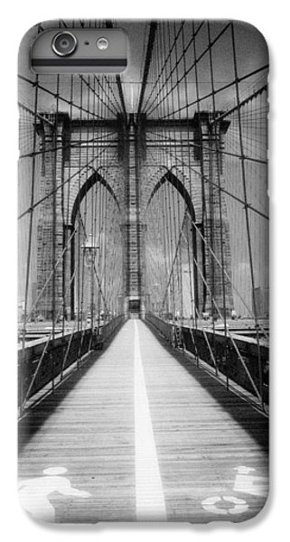 IPhone 6 Plus Case featuring the photograph Brooklyn Bridge Infrared by Dave Beckerman