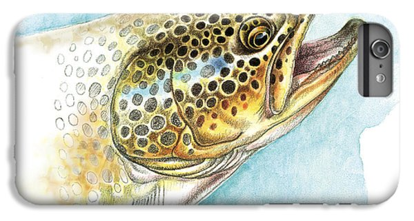 Brown Trout Study IPhone 6 Plus Case by JQ Licensing