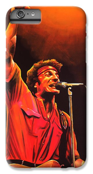 Bruce Springsteen Painting IPhone 6 Plus Case by Paul Meijering