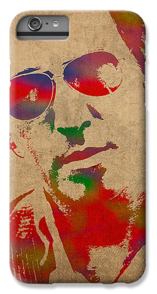 Musicians iPhone 6 Plus Case - Bruce Springsteen Watercolor Portrait On Worn Distressed Canvas by Design Turnpike