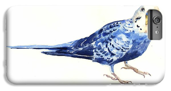 Parakeet iPhone 6 Plus Case - Budgie Bow by Alison Fennell