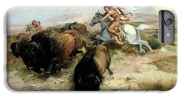 Buffalo Hunt IPhone 6 Plus Case by Charles Marion Russell