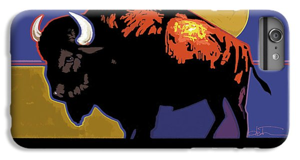 Buffalo Moon IPhone 6 Plus Case by R Mark Heath