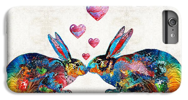 Bunny Rabbit Art - Hopped Up On Love - By Sharon Cummings IPhone 6 Plus Case by Sharon Cummings
