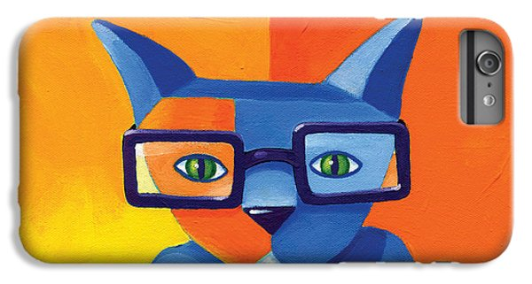 Cat iPhone 6 Plus Case - Business Cat by Mike Lawrence