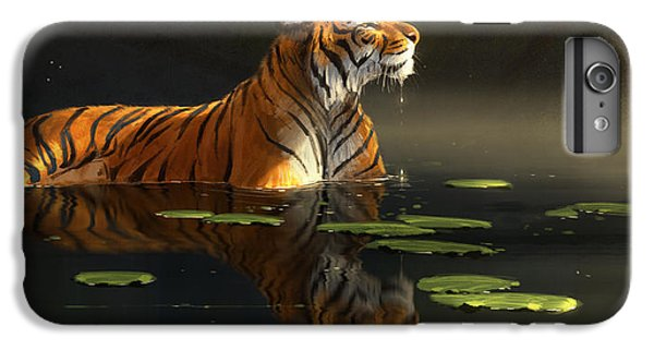 Tiger iPhone 6 Plus Case - Butterfly Contemplation by Aaron Blaise