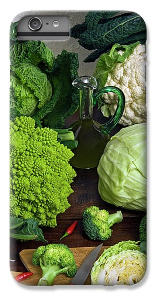 Cabbages -clockwise- Broccoli IPhone 6 Plus Case by Nico Tondini