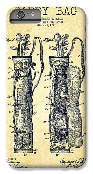 Caddy Bag Patent Drawing From 1905 - Vintage IPhone 6 Plus Case by Aged Pixel