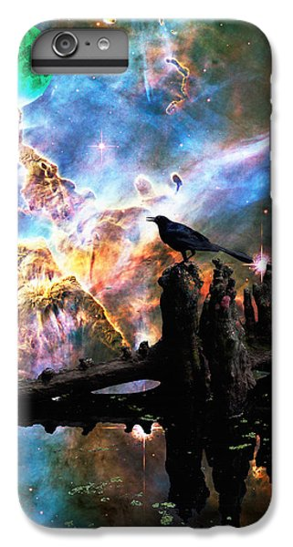 Calling The Night - Crow Art By Sharon Cummings IPhone 6 Plus Case by Sharon Cummings