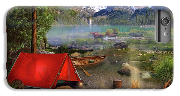 IPhone 6 Plus Case featuring the drawing Canadian Wilderness Trip by David M ( Maclean )