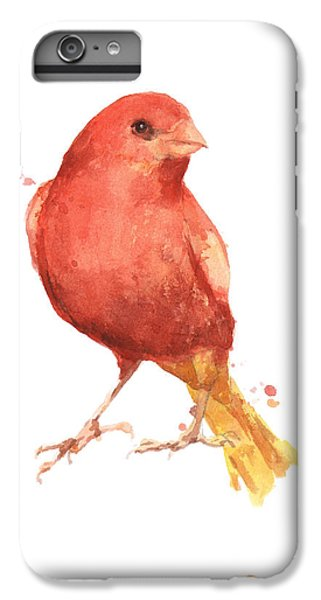 Canary Bird IPhone 6 Plus Case by Alison Fennell