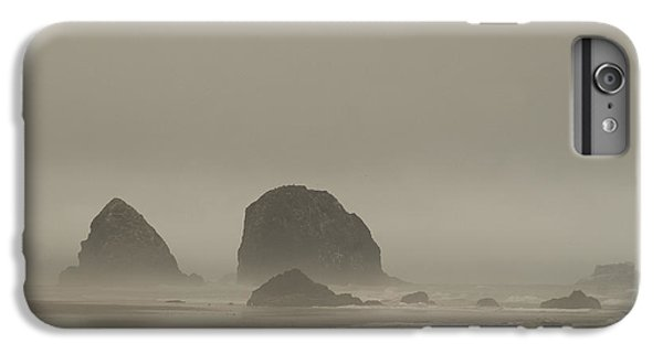 IPhone 6 Plus Case featuring the photograph Cannon Beach In A Fog Oregon by Yulia Kazansky