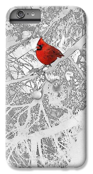 Cardinal In Winter IPhone 6 Plus Case by Ellen Henneke