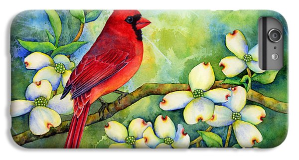 Cardinal On Dogwood IPhone 6 Plus Case