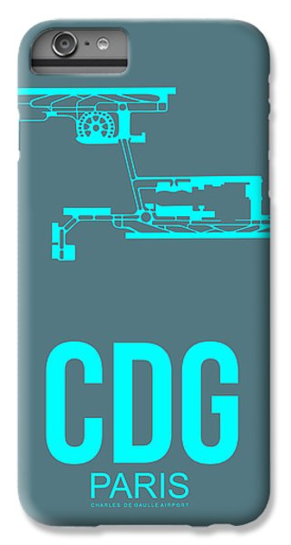 Cdg Paris Airport Poster 1 IPhone 6 Plus Case by Naxart Studio
