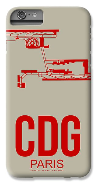 Cdg Paris Airport Poster 2 IPhone 6 Plus Case by Naxart Studio