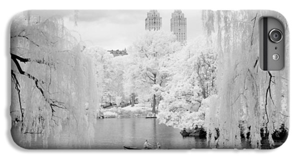 IPhone 6 Plus Case featuring the photograph Central Park Lake-infrared Willows by Dave Beckerman