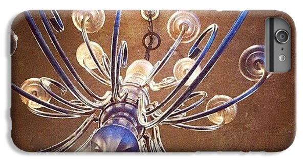 Decorative iPhone 6 Plus Case - Chandelier In Blue by Suzanne Goodwin