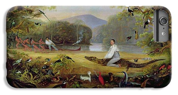 Crocodile iPhone 6 Plus Case - Charles Waterton Capturing A Cayman, 1825-26 by Captain Edward Jones