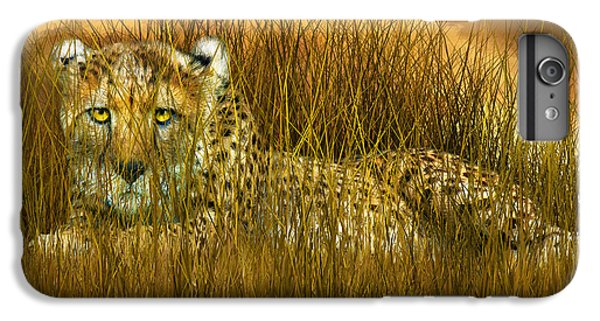 Cheetah - In The Wild Grass IPhone 6 Plus Case by Carol Cavalaris