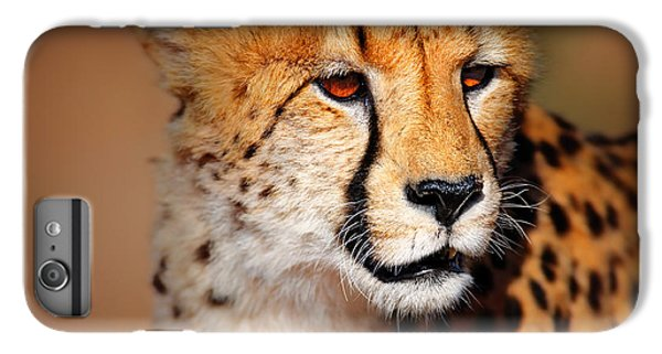 Cheetah Portrait IPhone 6 Plus Case by Johan Swanepoel