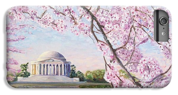 Jefferson Memorial iPhone 6 Plus Case - Jefferson Memorial Cherry Blossoms by Patty Kay Hall