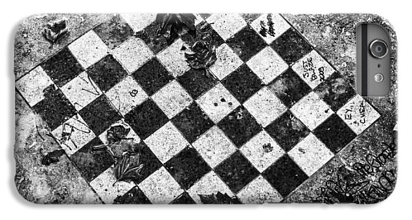 IPhone 6 Plus Case featuring the photograph Chess Table In Rain by Dave Beckerman