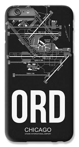 Airplane iPhone 6 Plus Case - Chicago Airport Poster by Naxart Studio