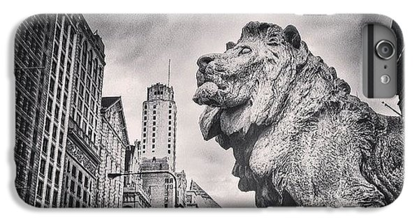 Architecture iPhone 6 Plus Case - Art Institute Of Chicago Lion Picture by Paul Velgos