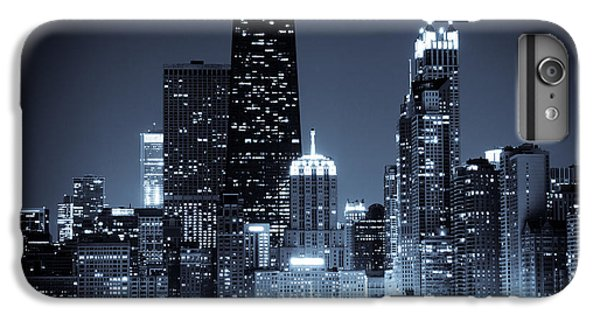 Chicago At Night With Hancock Building IPhone 6 Plus Case by Paul Velgos