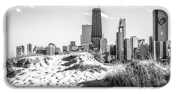 Chicago Beach And Skyline Black And White Photo IPhone 6 Plus Case by Paul Velgos