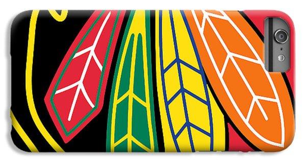 Chicago Blackhawks IPhone 6 Plus Case by Tony Rubino