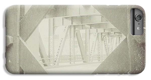 Architecture iPhone 6 Plus Case - Chicago Bridge Ironwork Vintage Photo by Paul Velgos