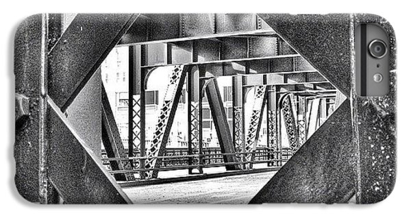 Architecture iPhone 6 Plus Case - Chicago Bridge Iron In Black And White by Paul Velgos
