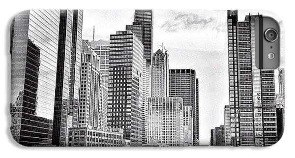 Chicago River Buildings Black And White Photo IPhone 6 Plus Case