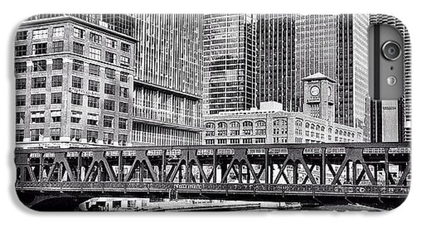 Architecture iPhone 6 Plus Case - Wells Street Bridge Chicago Hdr Photo by Paul Velgos